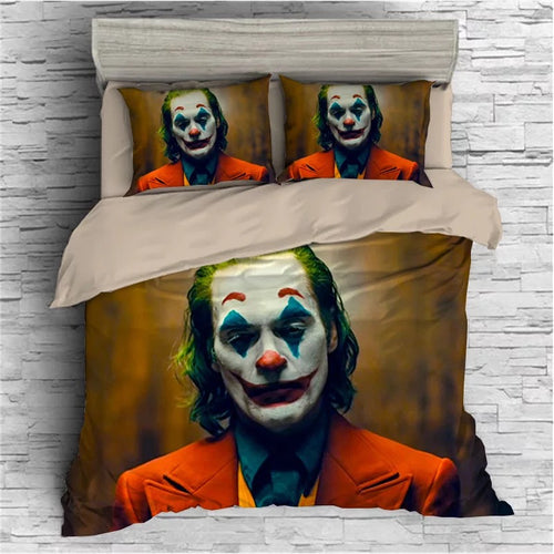 2019 Joker Arthur Fleck Clown #16 Duvet Cover Quilt Cover Pillowcase Bedding Set Bed Linen Home Bedroom Decor