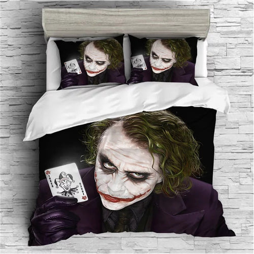 The Dark Knight Batman Joker Clown #1 Duvet Cover Quilt Cover Pillowcase Bedding Set Bed Linen Home Bedroom Decor