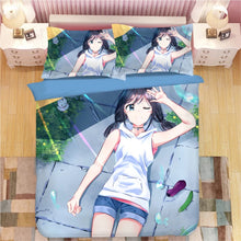 Load image into Gallery viewer, Tenki no Ko Makoto Shinkai Weathering with you #1 Duvet Cover Quilt Cover Pillowcase Bedding Set Bed Linen Home Decor