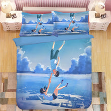 Load image into Gallery viewer, Tenki no Ko Makoto Shinkai Weathering with you #5 Duvet Cover Quilt Cover Pillowcase Bedding Set Bed Linen Home Bedroom Decor
