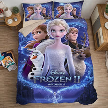Load image into Gallery viewer, Frozen Anna Elsa Princess #9 Duvet Cover Quilt Cover Pillowcase Bedding Set Bed Linen Home Bedroom Decor
