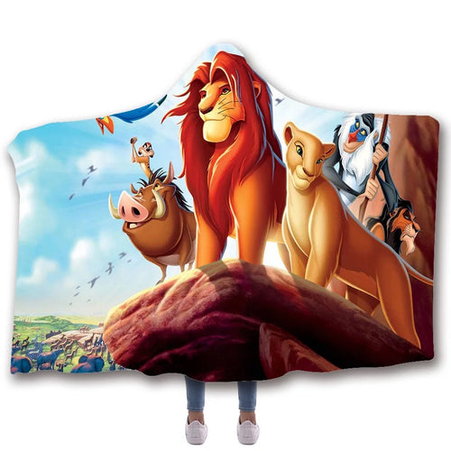 The Lion King Simba #1 Hooded Blanket Super Soft Cozy Sherpa Fleece Throw Blanket for Men Boys