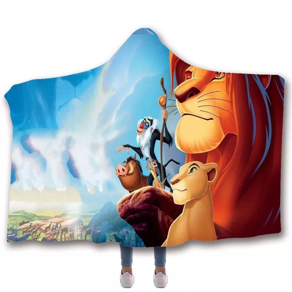 The Lion King Simba #3 Hooded Blanket Super Soft Cozy Sherpa Fleece Throw Blanket for Men Boys