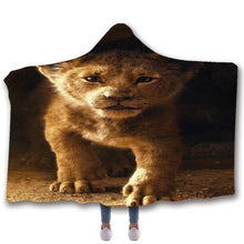 Load image into Gallery viewer, The Lion King Simba #5 Hooded Blanket Super Soft Cozy Sherpa Fleece Throw Blanket for Men Boys