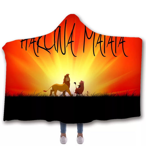 The Lion King Simba #7 Hooded Blanket Super Soft Cozy Sherpa Fleece Throw Blanket for Men Boys