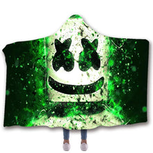 Load image into Gallery viewer, Fortnite Marshmello DJ #5 Hooded Blanket Super Soft Cozy Sherpa Fleece Throw Blanket for Men Boys