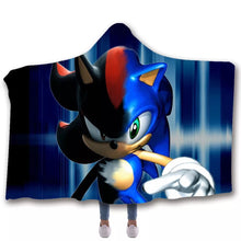 Load image into Gallery viewer, Sonic The Hedgehog #3 Hooded Blanket Super Soft Cozy Sherpa Fleece Throw Blanket for Men Boys