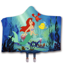Load image into Gallery viewer, The Little Mermaid #5 Hooded Blanket Super Soft Cozy Sherpa Fleece Throw Blanket for Men Boys