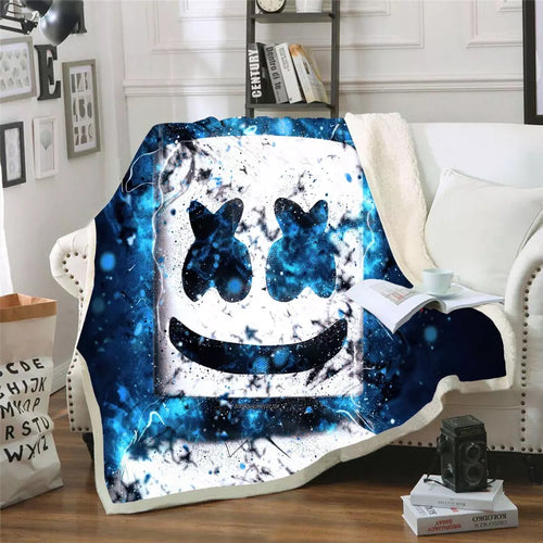 Fortnite Marshmello DJ #3 Blanket Super Soft Cozy Sherpa Fleece Throw Blanket for Men Boys