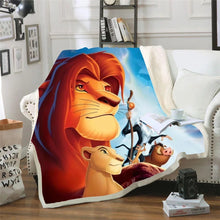 Load image into Gallery viewer, The Lion King Simba #5 Blanket Super Soft Cozy Sherpa Fleece Throw Blanket for Men Boys