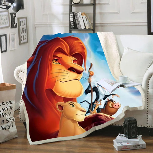 The Lion King Simba #5 Blanket Super Soft Cozy Sherpa Fleece Throw Blanket for Men Boys