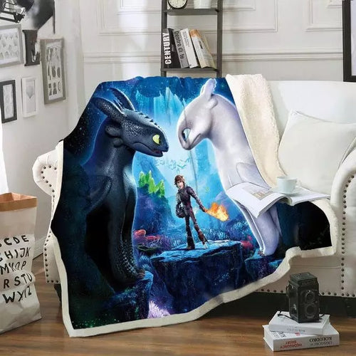 How to Train Your Dragon #2 Blanket Super Soft Cozy Sherpa Fleece Throw Blanket for Men Boys