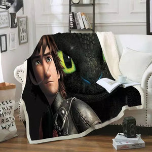How to Train Your Dragon #3 Blanket Super Soft Cozy Sherpa Fleece Throw Blanket for Men Boys