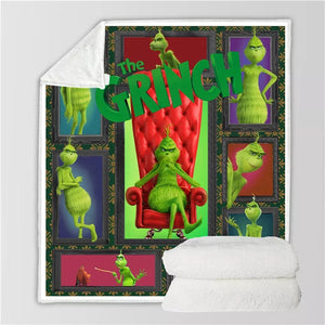 How the Grinch Stole Christmas #8 Blanket Super Soft Cozy Sherpa Fleece Throw Blanket for Men Boys