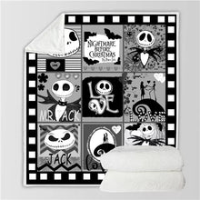 Load image into Gallery viewer, The Nightmare Before Christmas Jack Skellington #2 Blanket Super Soft Cozy Sherpa Fleece Throw Blanket for Men Boys