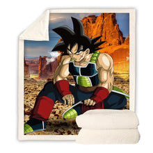Load image into Gallery viewer, Dragon Ball Z Son Goku #1 Blanket Super Soft Cozy Sherpa Fleece Throw Blanket for Men Boys
