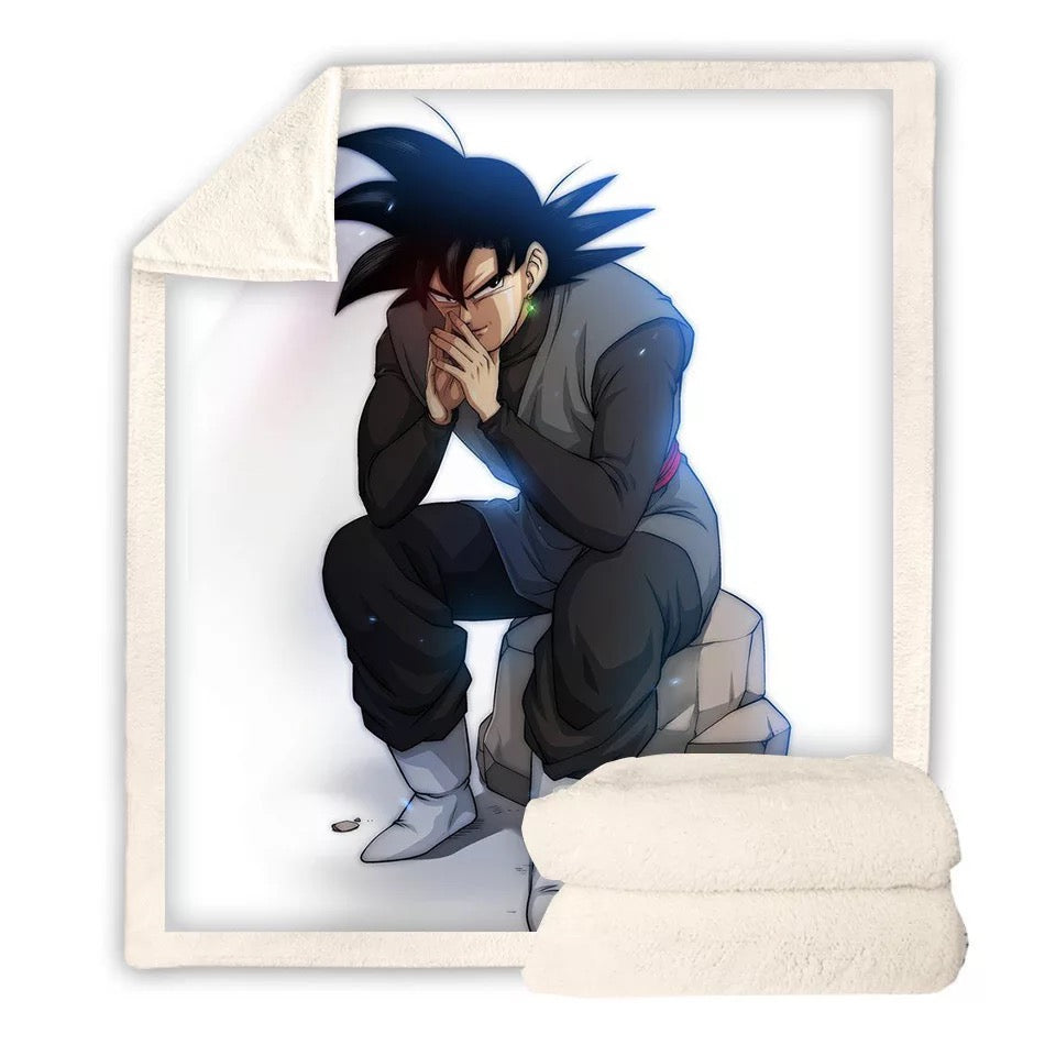 Dragon Ball Z Son Goku #3 Blanket Super Soft Cozy Sherpa Fleece Throw Blanket for Men Boys