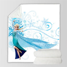 Load image into Gallery viewer, Frozen Anna Elsa Princess #5 Blanket Super Soft Cozy Sherpa Fleece Throw Blanket for Men Boys