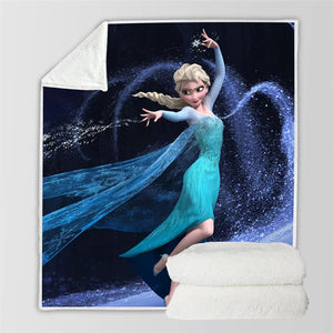 Frozen Anna Elsa Princess #10 Blanket Super Soft Cozy Sherpa Fleece Throw Blanket for Men Boys
