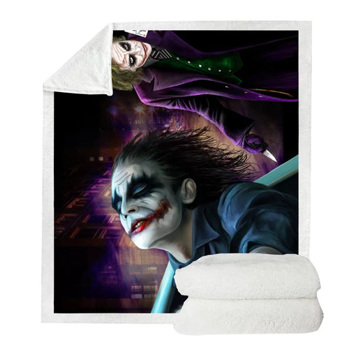 2019 Joker Arthur Fleck Clown #13 Blanket Super Soft Cozy Sherpa Fleece Throw Blanket for Men Boys
