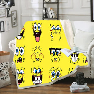 SpongeBob SquarePants #8 Blanket Super Soft Cozy Sherpa Fleece Throw Blanket for Men Boys