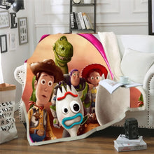Load image into Gallery viewer, Toy Story Buzz Lightyear Woody Forky #2 Blanket Super Soft Cozy Sherpa Fleece Throw Blanket for Men Boys