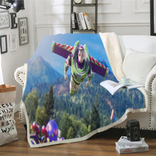 Load image into Gallery viewer, Toy Story Buzz Lightyear Woody Forky #4 Blanket Super Soft Cozy Sherpa Fleece Throw Blanket for Men Boys
