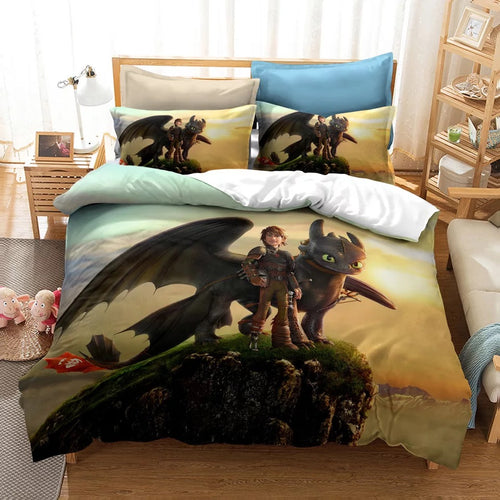How to Train Your Dragon Hiccup #11 Duvet Cover Quilt Cover Pillowcase Bedding Set Bed Linen
