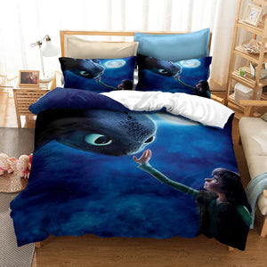 How to Train Your Dragon Hiccup #12 Duvet Cover Quilt Cover Pillowcase Bedding Set Bed Linen