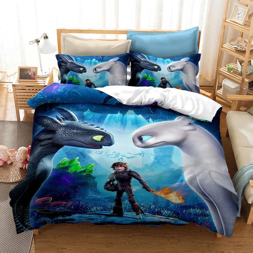How to Train Your Dragon Hiccup #15 Duvet Cover Quilt Cover Pillowcase Bedding Set Bed Linen