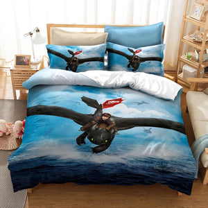 How to Train Your Dragon Hiccup #18 Duvet Cover Quilt Cover Pillowcase Bedding Set Bed Linen