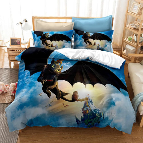 How to Train Your Dragon Hiccup #19 Duvet Cover Quilt Cover Pillowcase Bedding Set Bed Linen