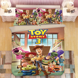 Toy Story Woody Forky #4 Duvet Cover Quilt Cover Pillowcase Bedding Set Bed Linen Home Bedroom Decor