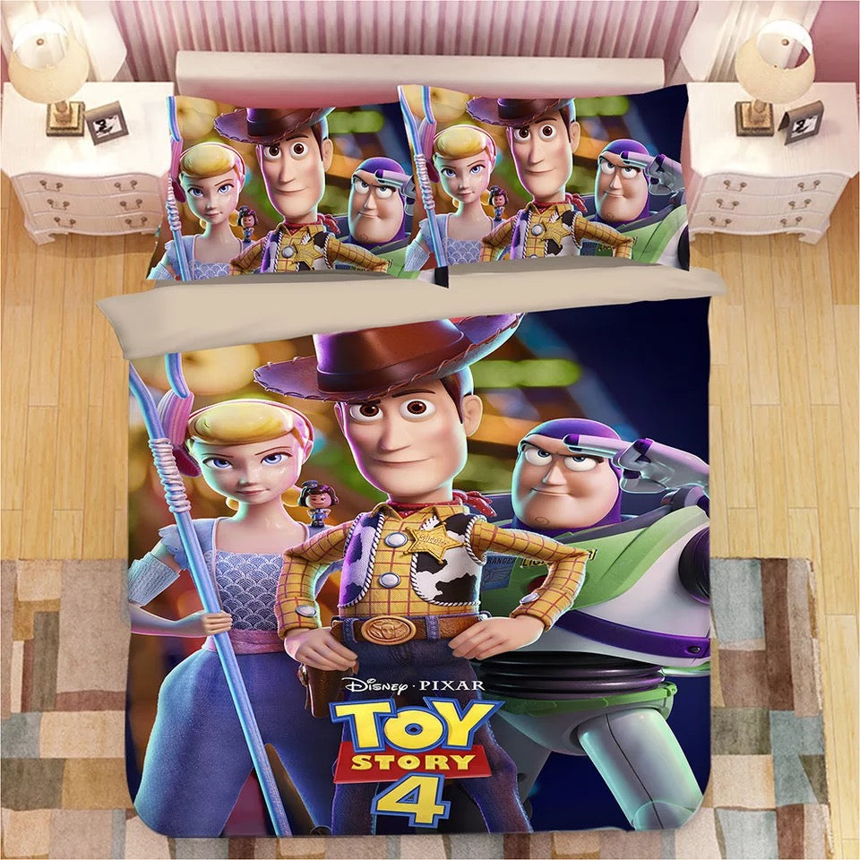Toy Story Woody Forky #5 Duvet Cover Quilt Cover Pillowcase Bedding Set Bed Linen Home Bedroom Decor