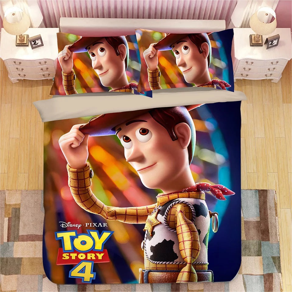Toy Story Woody Forky #7 Duvet Cover Quilt Cover Pillowcase Bedding Set Bed Linen Home Bedroom Decor