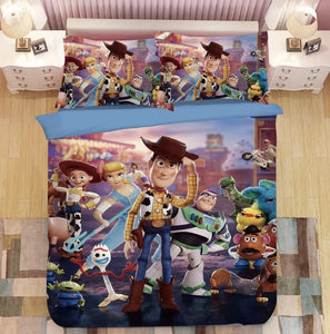 Toy Story Woody Forky #15 Duvet Cover Quilt Cover Pillowcase Bedding Set Bed Linen Home Bedroom Decor