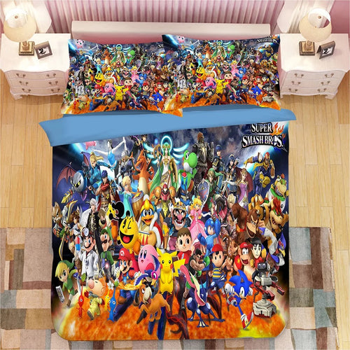 Super Smash Bros. Ultimate Mario #8 Duvet Cover Quilt Cover Pillowcase Bedding Set Bed Linen Home Bedroom Decor
