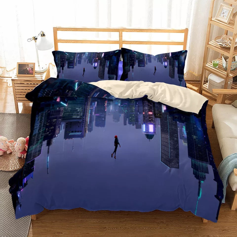 Spider-Man Into the Spider-Verse Miles Morales #30 Duvet Cover Quilt Cover Pillowcase Bedding Set