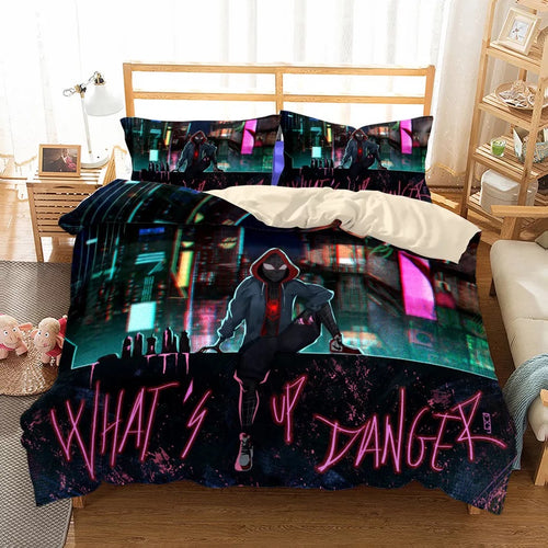 Spider-Man Into the Spider-Verse Miles Morales #35 Duvet Cover Quilt Cover Pillowcase Bedding Set