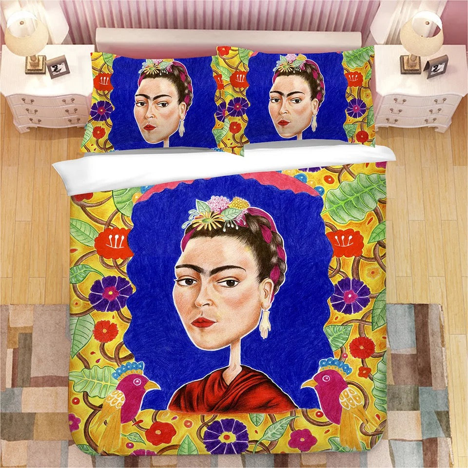Frida Kahlo #8 Duvet Cover Quilt Cover Pillowcase Bedding Set Bed Linen Home Bedroom Decor