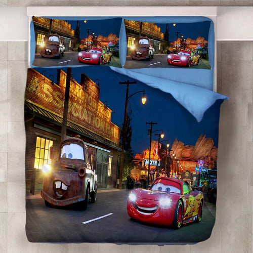 Movie Cars Lightning McQueen #11 Duvet Cover Quilt Cover Pillowcase Bedding Set Bed Line