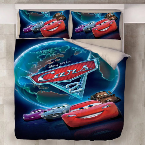 Movie Cars Lightning McQueen #12 Duvet Cover Quilt Cover Pillowcase Bedding Set Bed Line