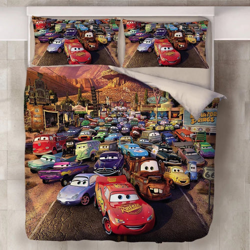 Movie Cars Lightning McQueen #15 Duvet Cover Quilt Cover Pillowcase Bedding Set Bed Line