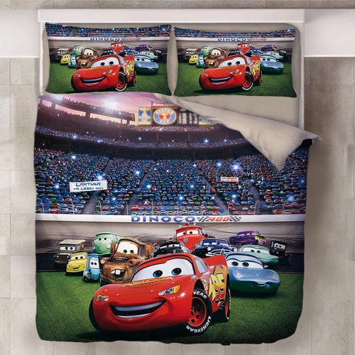 Movie Cars Lightning McQueen #18 Duvet Cover Quilt Cover Pillowcase Bedding Set Bed Line