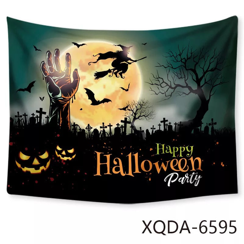 Halloween Horro Pumpkin Ghost #8 Wall Decor Hanging Tapestry Home Bedroom Living Room Decoration