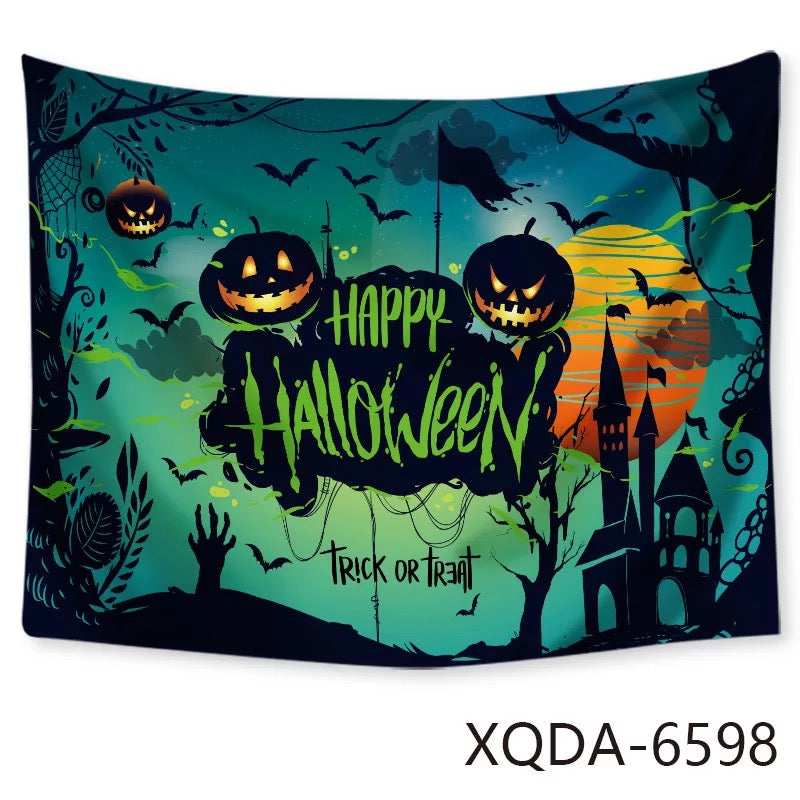 Halloween Horro Pumpkin Ghost #11 Wall Decor Hanging Tapestry Home Bedroom Living Room Decoration
