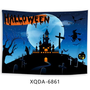 Halloween Horro Pumpkin Ghost #17 Wall Decor Hanging Tapestry Home Bedroom Living Room Decoration