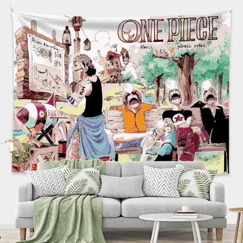 One Piece Monkey D. Luffy #26 Wall Decor Hanging Tapestry Home Bedroom Living Room Decoration