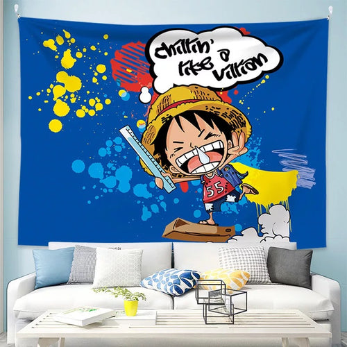 One Piece Monkey D. Luffy #27 Wall Decor Hanging Tapestry Home Bedroom Living Room Decoration