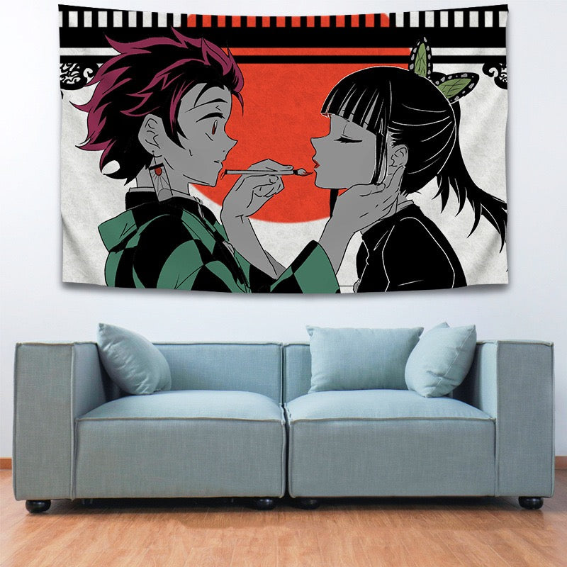 Demon Slayer Kimetsu no Yaiba #11 Wall Decor Hanging Tapestry Home Bedroom Living Room Decoration